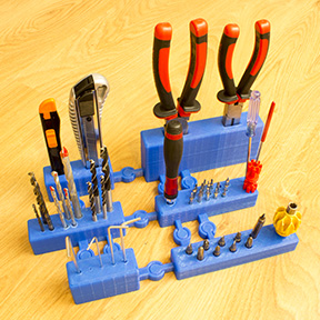 3d printing projects 3D Printed Modular Workshop Tool Organizer