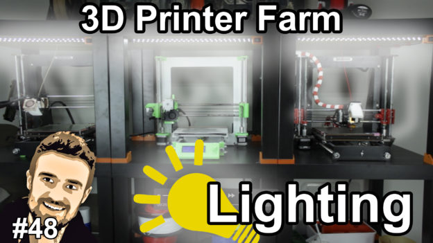 3D Printer Farm Lighting