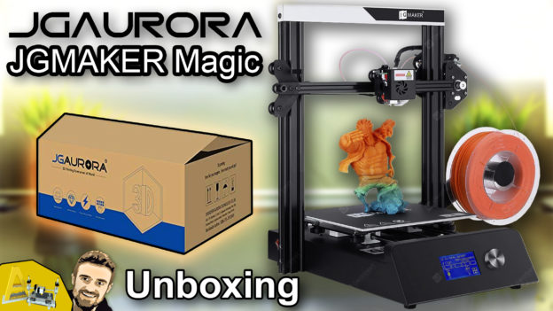 JGAURORA - JGMAKER Magic FDM 3D Printer - Unboxing